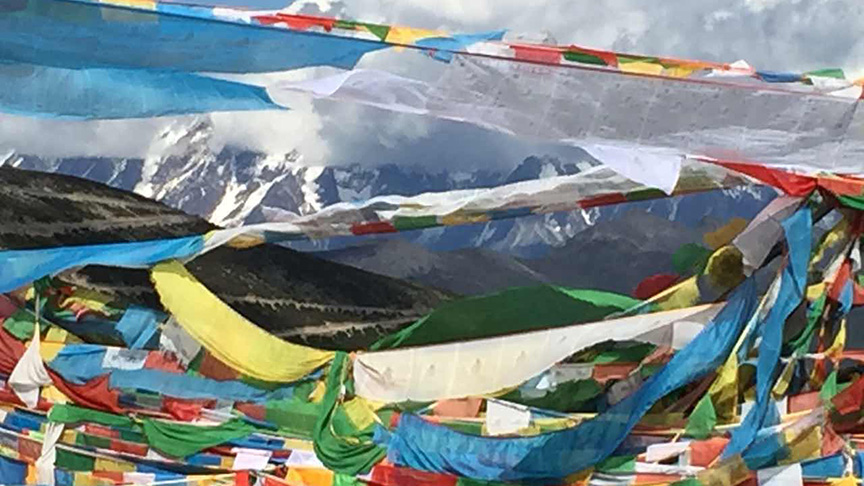 Prayer flags were a welcome sight at the top of each high pass